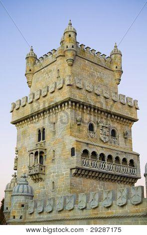 die Festung Belen in einer Flussmündung Tejo. Portugal, Lissabon