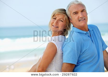 Middle-aged couple at the seaside