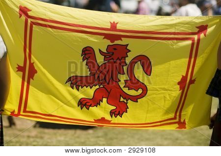 Scottish Rampant Lion National Flag Of Scotland