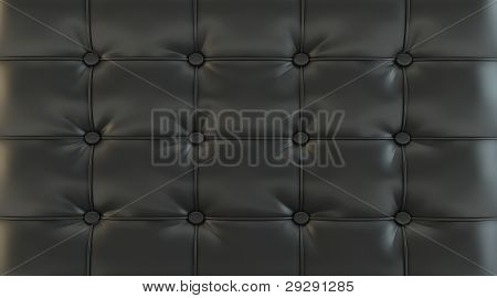 black picture of genuine leather