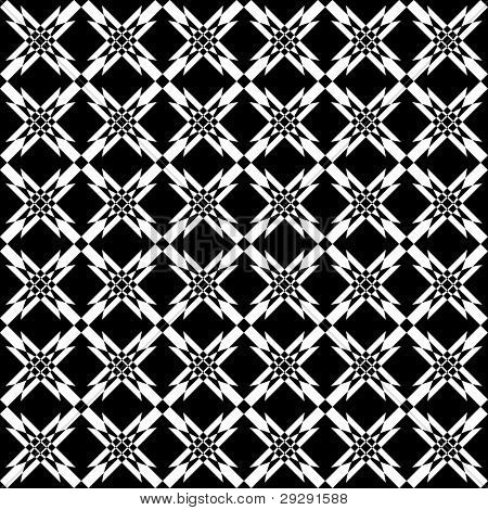 Seamless geometric crisscross pattern. Vector art.