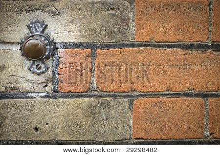 Door Bell Button On Brick Wall