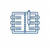 Diary Line Icon Concept. Diary Flat  Vector Symbol, Sign, Outline Illustration. poster