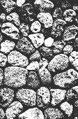 Distress Sea Or Ocean Coast Beach Stones, Pebbles Texture. Eps8 Vector. poster