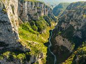 Vikos Gorge, A Gorge In The Pindus Mountains Of Northern Greece, Lying On The Southern Slopes Of Mou poster