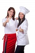 foto of puberty  - service and cook together to discuss the menu - JPG