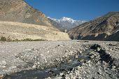picture of kali  - Kali Gandaki valley witn Himalayan mountains in the background - JPG
