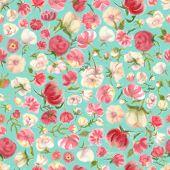 Watercolor Flower Seamless Pattern, Blur Floral Background. Fuzzy Aquarelle Botanical Illustration,  poster