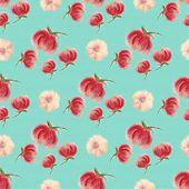 Aquarelle Floral Seamless Wallpaper, Blur Flower Background. Fuzzy  Watercolor Botanical Illustratio poster