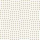 Vector Golden Geometric Seamless Pattern With Small Squares, Repeat Tiles. Abstract Gold And White C poster