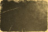 Old Photo Texture With Stains And Scratches. Vintage And Antique Art Concept. Front View Of Blank Ol poster