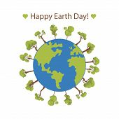 Happy Earth Day Banner. Illustration Of Happy Earth Day Banner, For Celebrating Environmental Safety poster