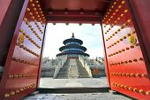 foto of gates heaven  - Temple of Heaven in Beijing  - JPG