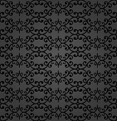 Classic Seamless Pattern. Damask Orient Dark Ornament. Classic Vintage Background poster