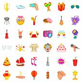 Dancer Icons Set. Cartoon Style Of 36 Dancer Icons For Web Isolated On White Background poster
