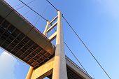 stock photo of tsing ma bridge  - Tsing Ma Bridge in Hong Kong - JPG