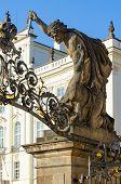 Sculpture battle Of Titans (1850) On Gates Of Giants (titans) In Prague Castle, Prague, Czech Repu poster