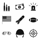 Explosive Icons Set. Simple Set Of 9 Explosive Icons For Web Isolated On White Background poster