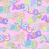 Abc Pattern 3. Abc Symbol Pattern. Kids Study Background. poster