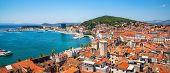 Old Town Of Split In Dalmatia, Croatia. poster