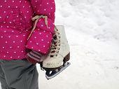 foto of gril  - Go skate - JPG