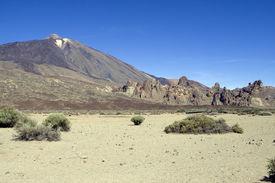 foto of scoria  - El Teide in Tenerife is Spains highest mountain - JPG