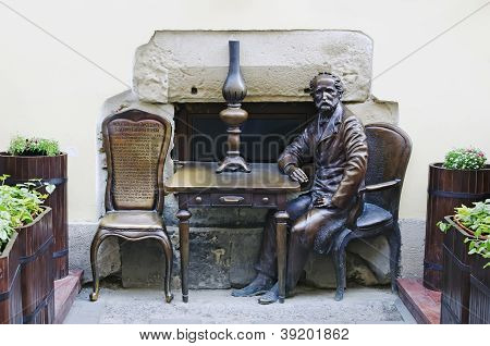 Monument Devoted Of Inventors Kerosene Lamps Jan Zeh And Ignacio Lukasiewicz