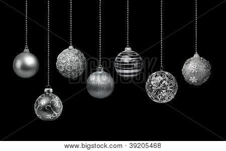 Silver Christmas Balls Collection