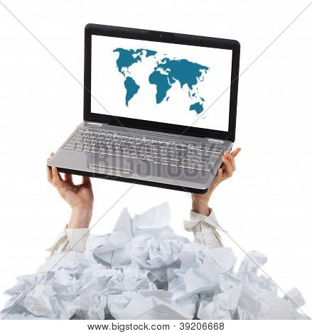 Too Many Paper Work. Concept