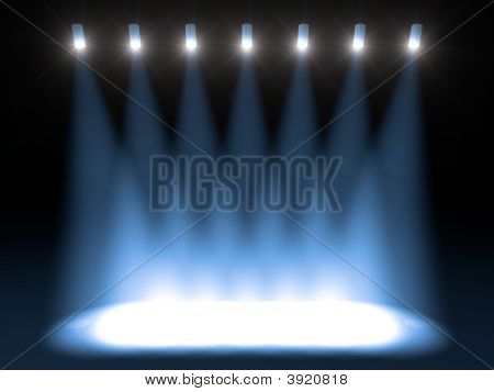 Blue Stage Lights