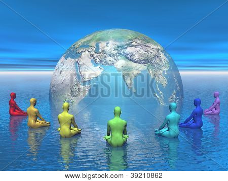 Chakra Meditation For Earth - 3D Render