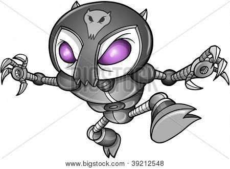 Cyborg robô Ninja Warrior Vector