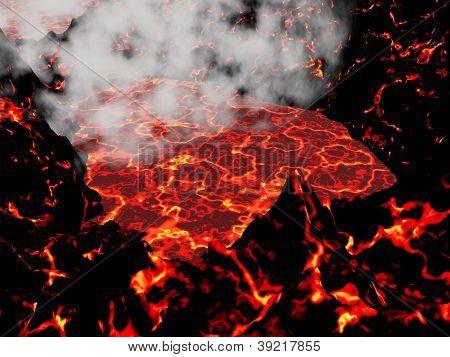 Heart Of Volcano - 3D Render