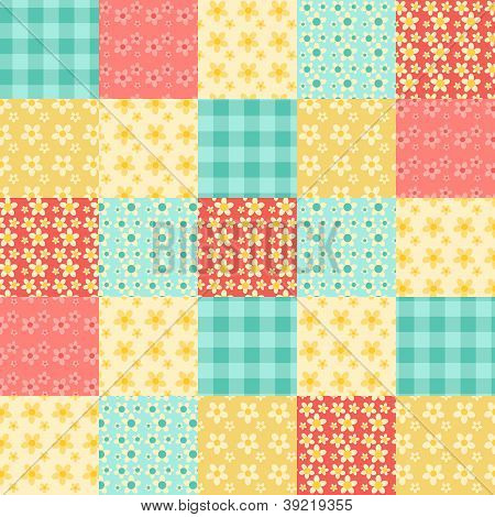 Seamless Patchwork Pattern
