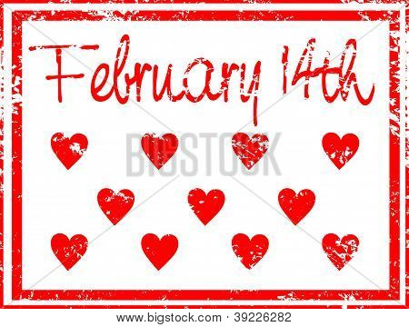 February 14th Rubber Stamp