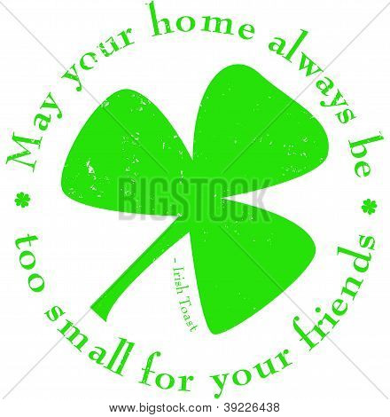 St. Patrick's Day Shamrock Rubber Stamp