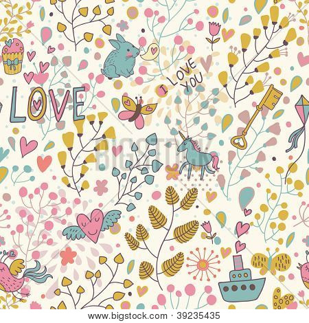 Romantic seamless pattern for cute floral wallpapers