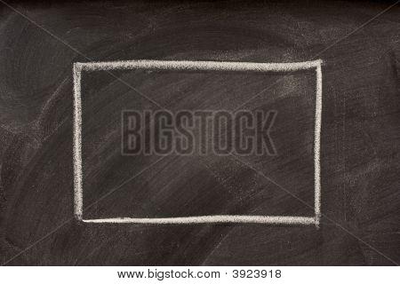 Blank Rectangle On A Blackboard