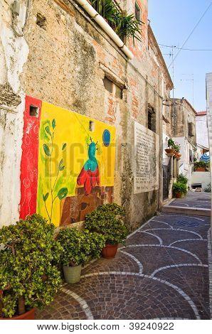 Alleyway. Diamante. Calabria. Italy.
