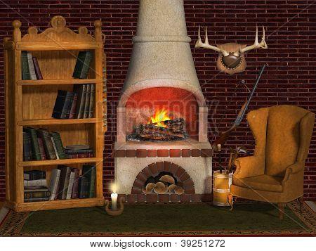 Fireplace, Hunter's House