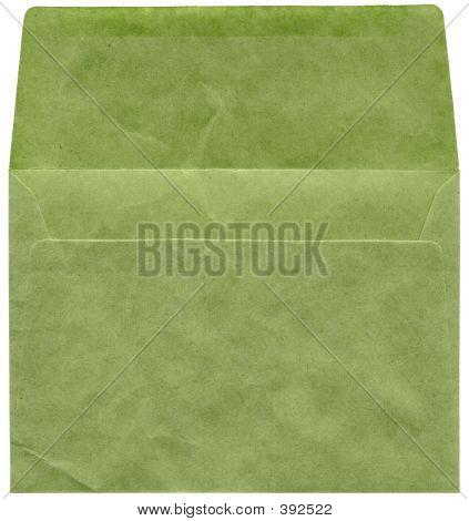 Retro Green Textured Envelope