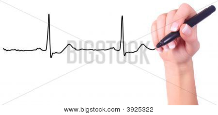 Hand Drawing Heart Beat