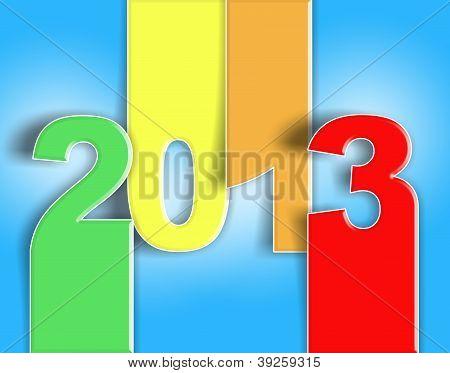2013 happy new year auguri change illustration