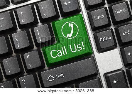 Conceptual Keyboard - Call Us (green Key)