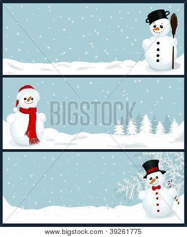 3 Christmas Banners
