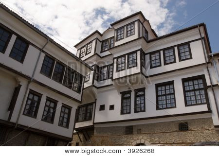 Robev Traditional Houses In Ohrid City Balkan Peninsula