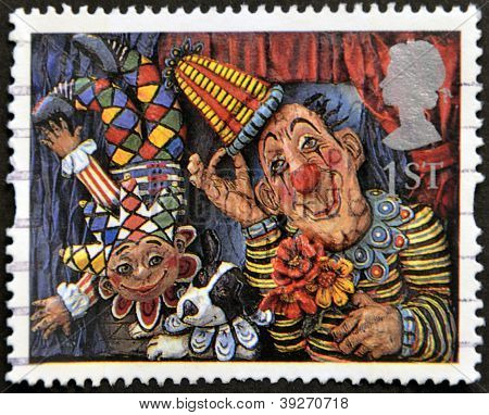 UNITED KINGDOM - CIRCA 1995: A stamp printed in Great Britain shows 'Circus Clowns' (Emily Firmin an