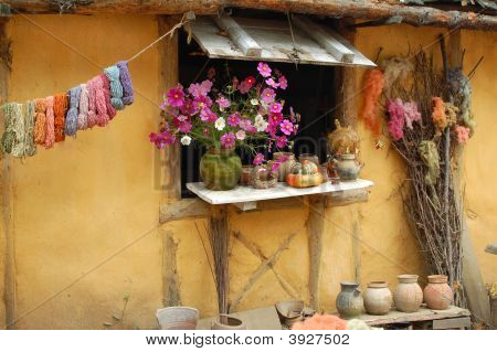 Rustic Window Display