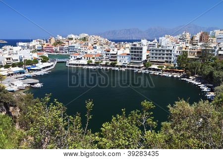 Agios Nikolaos city, Crete island, Greece