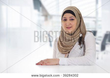 Arabian Business Woman Posing in office